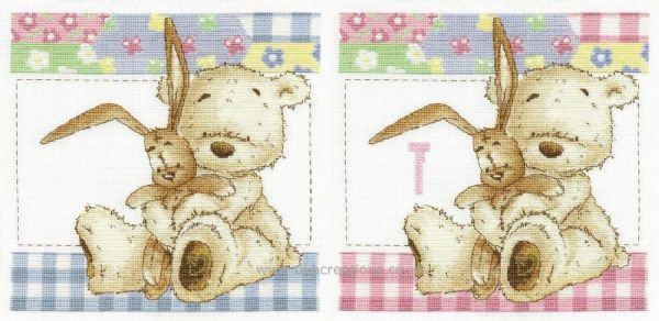 Lickle Ted  Cuddles First Initial  Cross Stitch Kit